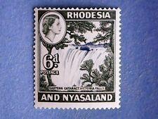 Rhodesia & Nyasaland. QE2 1959 6d Ultram & Deep Myrtle-Green. SG24. P14½. MH.