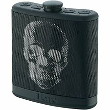 iHome iBT12KBC SoundFlask Bluetooth Portable Stereo Speaker, Black Skull