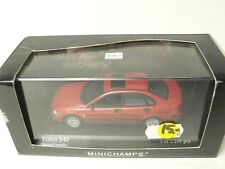 VOLVO S 40 2000 RED METALLIC MINICHAMPS 430171100 1:43 FROM COLLECTION
