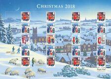Gb 2018 - Christmas Smilers Generic Sheet. Cat Ref: Gs115 / Ls113