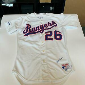 1988 Dave Oliver Signed Game Used Texas Rangers Jersey PSA DNA COA