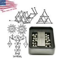 63 Piece Educational DIY Magnetic Stick and Ball Kit 36 Sticks 27 Balls US