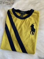 Polo Ralph Lauren Big Horse Embroidered Logo Shirt Unisex Youth Sz L 14-16 *flaw