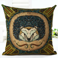 18'' VINTAGE  Printing Cotton Linen Cushion Cover Throw Pillow Case Home Decor
