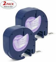 Dymo2 PK 16952 Compatible LetraTag Clear Plastic Label Tape Maker LT100H Plus