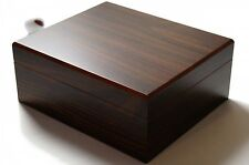 GERMANUS Cigar Humidor 50 Cigars Brown With Hygrometer Humidifier