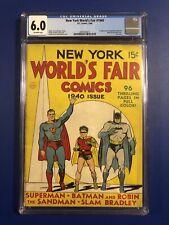 New York World's Fair #1940 (1940, DC) CGC 6.0 RARE - 1st SUPERMAN BATMAN ROBIN!