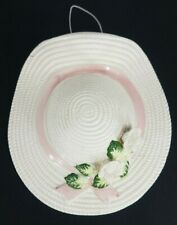 Vintage white ceramic bonnet hat flower holder wall vase decoration home decor