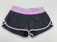 Lululemon Womens Size 2 Speed Up Shorts Gray Pink Lined Running Athletic