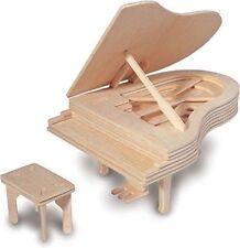 Kit de Construcción de Woodcraft Piano-Rompecabezas de Madera Modelo 3D Para Niños/Adultos