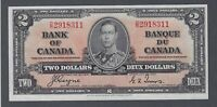 1937 (BC-22c) Bank of Canada Two Dollars AU-55