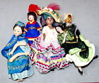* Doll Other Ethnic Souvenir Travel Vintage Assorted Lot of 5 As Is USA SELLER