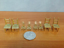 Lot of 8 Pieces Of Miniature Brass Dolls House Furniture - lot 5