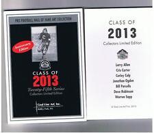 2013 GOAL LINE ART CARD SET BILL PARCELLS, WARREN SAPP, CRIS CARTER, LARRY ALLEN
