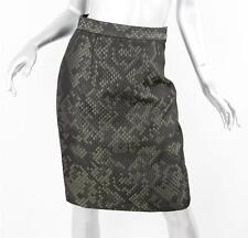 TOPSHOP BOUTIQUE Womens Pewter/Black Shine Quilted Knee-Length Pencil Skirt 6/38