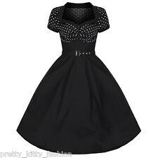 Vestiti da donna stile anni'50, rockabilly nere lunghezza al ginocchio