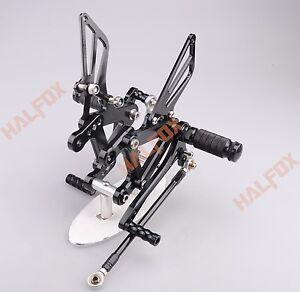 CNC Rearset Footpegs Rear set Fit Kawasaki NINJA ZX6R 98-02 ZX9R 99-03 ZZR600