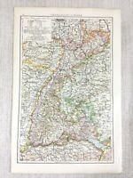 1898 Antik Map Of Die Grand Herzogtum Von Baden Deutschland Deutsche Reich 19th