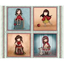 "QT Fabrics My Story by Santoro/Gorjuss 27139 X Large Picture Patchess 36"" Cotton"