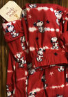 Peanuts SNOOPY Red Patriotic Jogger Lounge Pajama Pants Size XL Extra Large NWT