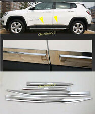 door Body Side Molding cover trim for 2017-2020 Jeep Compass Chrome ABS