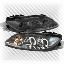 For Smoked 03-06 Mazda 6 Twin Halo DRL LED Projector Headlights+Fog Lamp Pair