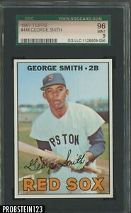 1967 Topps #444 George Smith Boston Red Sox SGC 96 MINT 9