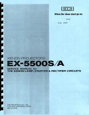 Eiki Ex-5500S/A Service & Repair Manual f/Xenon lamp starter, rectifier circuits