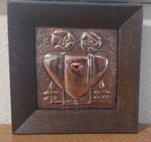 Arts & Crafts Copper Panel - Talwin Morris?