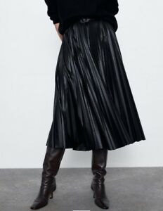 Ecofriendly Vegan leather A line skirt Plus size black skirt Black leather Steampunk clothing women Long maxi Skirt with pockets