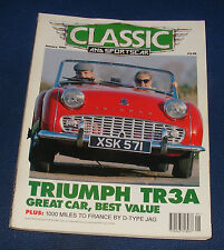 CLASSIC AND SPORTS CAR JANUARY 1993 - TRIUMPH TR2-3A BUYERS' GUIDE