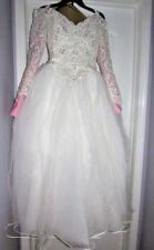 Eve Of Milady Vintage Off The Shoulder White Wedding Gown Dress With Veil Small