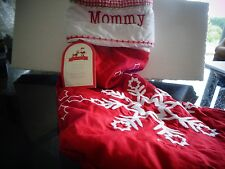 Pottery Barn Kids quilted stocking snowflake Christmas   monogram Mommy New