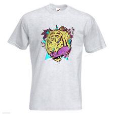 Rider Star Tiger Para hombre Printed T-Shirt colmillos Patineta verano Extreme Ride Rider