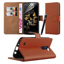 Wallet Flip Book Stand View Premium Case Cover for Various LG Mobile PHONES LG K8 Brown
