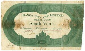 20 SCUDI BANCA DELLO STATO PONTIFICIO 1853 MB+