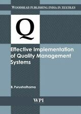 Woodhead Publishing India: Effective Implementation of Quality Management...