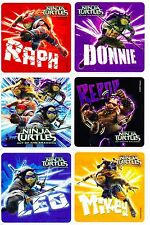 Teenage Mutant Ninja Turtles Out of the Shadows Stickers x 6 - TMNT Birthday