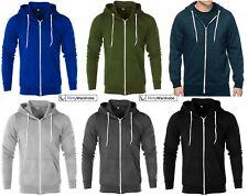 Mens Zipper Hoodie Sweatshirt Plain Hooded Zip Jacket American Fleece Hoody HNL