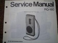 PANASONIC RQ-180 Micro Cassette Recorder Service manual wiring parts diagram