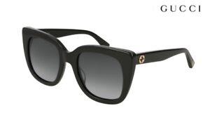 GUCCI Sunglasses GG0163S (001) Black / Grey RRP-£190