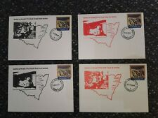 Four Australian TPO handstamped covers