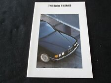 1991 BMW 7 Series Prestige Brochure 735i 735iL E32 735 iL US Sales Catalog
