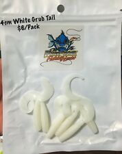 New 4cm Killer Crank White Grub Tail Soft Plastic Fishing Lures Pack