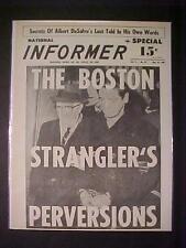 VINTAGE NEWSPAPER HEADLINE ~CRIME SERIAL KILLER MURDERER BOSTON STRANGLER CAUGHT