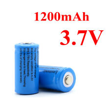 1 Pair 1200mAh 3.7V 16340 Rechargeable Battery Li-ion Lithium Replace Batteries