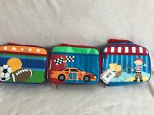 New 3 Stephen Joseph Lunch Boxes Racecar , Sports & Pirate Themed Adorable