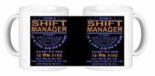 Being A Shift Manager Is Easy It's Like Riding A Bike Except Novelty Ceramic Mug