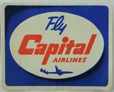 1940's-50's Capital Airlines Luggage Label Original E18