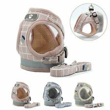 Dog Escape Proof Harness & Lead Set Chihuahua Pug Breathable Mesh Walking Vest